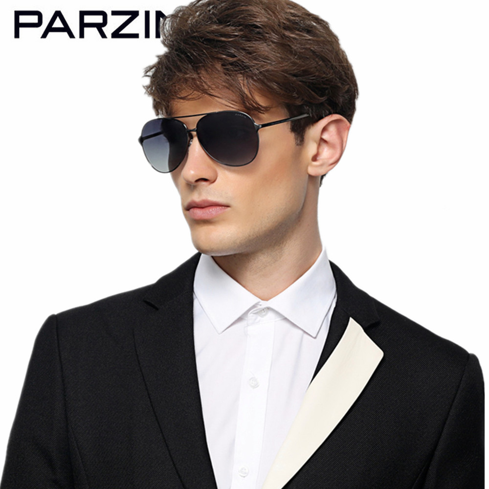 PARZIN Classic Aviation Sunglasses Men HD Polarized Driving Sun Glasses For Men Alloy Frame Male Shades With Original Box 8009A european american classic fashion ultra textured halfmetal retro sunglasses for men women unisex with original box uv400 no 2514