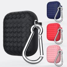 Woven Pattern Anti-dust Soft Silicone Case Cover Protector for Apple Airpods Pattern Anti-dust Soft Silicone Case