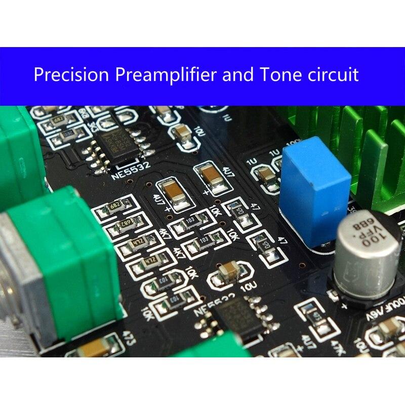 Image 2 - TPA3116D2 Bluetooth 5,0 цифровой усилитель мощности Qcc3003 100 Вт * 2 2,0 стерео аудио усилитель PCM5102A сабвуфер со звуковой картой-in Усилитель from Бытовая электроника