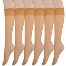 2261 12 par pacote de mulheres náilon joelho meias altas 20d senhora transparente seda náilon joelho hi meias meninas sobre o joelho meias