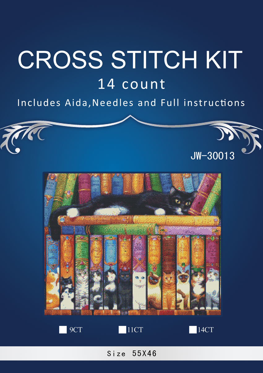 Arts,crafts & Sewing The Cheapest Price 1cat Sleeping In Books Counted Cross Stitch 14ct Cross Stitch Set Cross-stitch Kit Embroidery Needlework Similar Dim Anchor Patterns
