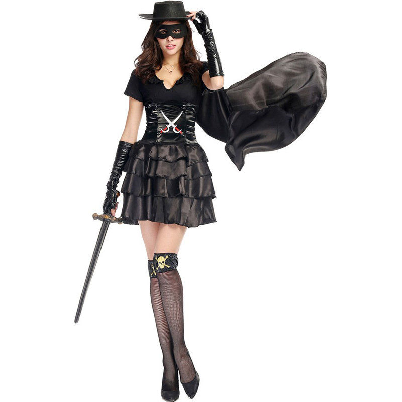 Adult Deluxe Women/'s Zorro Costume