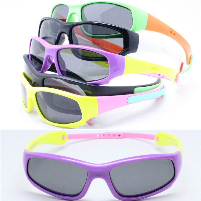 wholesale S8110P kid polarized UV400 polycarbonate lens momery bendable with foldable skipping band sunglasses free shipping