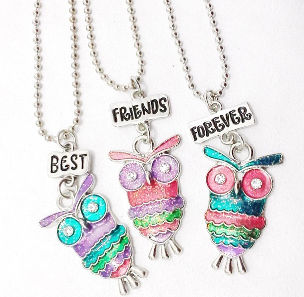 Best Friends Forever pendant charm with chain