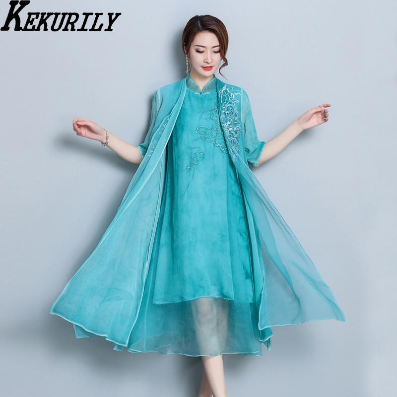 Light blue party midi dress suit summer women 2 piece set dresses ...