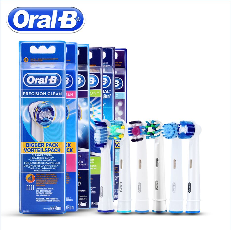 Genuine Oral B Sonic Electric Toothbrush Head Precision Clean Replacement Vitality Oral B Tooth Brush Heads Vital Toothbrush 16pcs best sonic electric toothbrush replacement for philips sonicare brush heads hx6064 diamond clean soft bristles black new