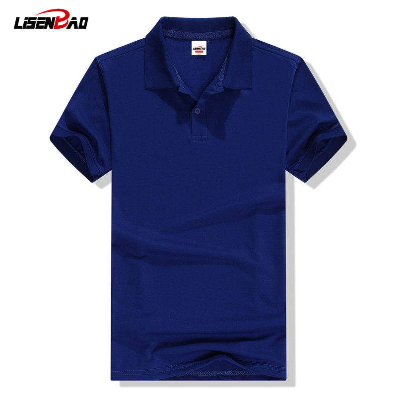 LiSENBAO 2019 Summer High quality brand men   polo   short sleeve shirt Fashion casual Solid   Polo   Shirt Women shirts undershirts CVC