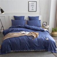 4/6 pcs Egypt cotton Hollow Embroidered Luxury pure Bedding set Unique lace Duvet cover set Bedsheet Pillowcases Queen King size