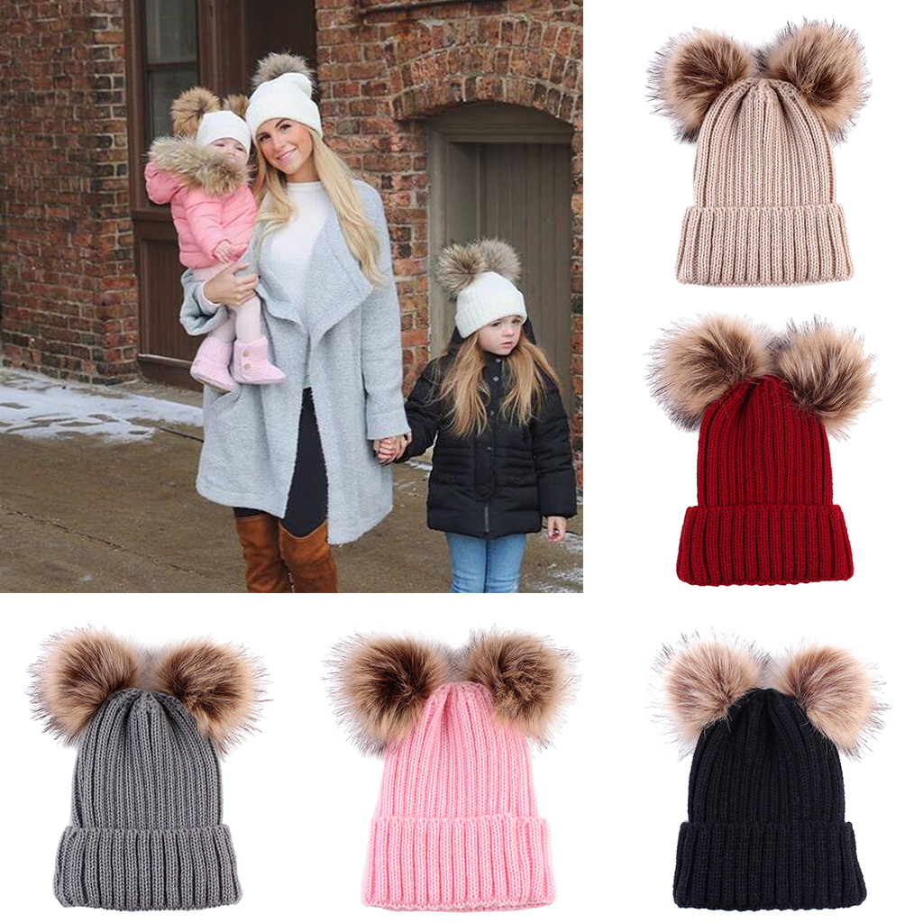 Cute Newborn Baby Girls Boys Winter Knitted Hats Caps Beanies