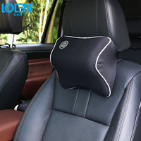 Car Seat Head Neck Rest Massage Memory Foam Cushion Support Headrest Space Memory Foam 6 Color
