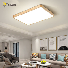 Nordic Simple Modern OAK Wood Ceiling Lamp Ultra thin Japanese LED Lights For Bedroom Living Room Kitchen Study Balcony