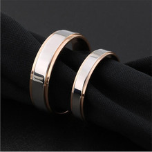 R23 Titanium Lover's Rings Width 4mm 6mm 316L Stainless Steel IP Plating No Fade Steel Gold-color Good Quality Cheap Jewelry good quality fasion mens ip gold plating quartz wristwatches stainless steel watches 3 colors available