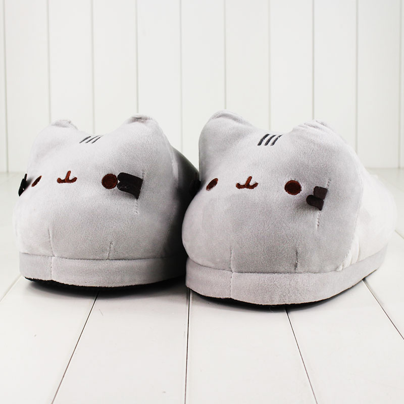42636d0b5ab 1 pair Cat Plush Slippers Anime Kawaii Soft Plush Winter Warm Slippers  Cotton Indoor Hourse Slippers 28cm-in Movies   TV from Toys   Hobbies on ...