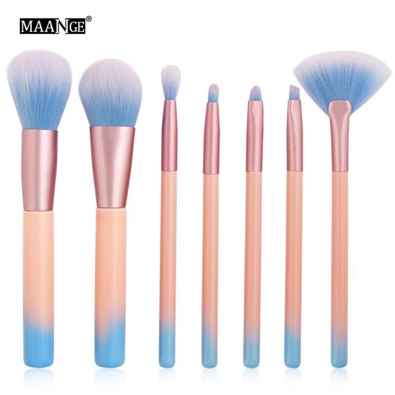 MAANGE Мрамор текстура кистей для макияжа, набор Фонд порошок тени контур Румяна Косметика мраморность вентилятор Make Up Brush
