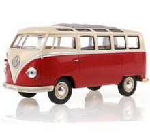 KINGSMART 1962 Volkswagen 1:24 Масштаб Литья Под Давлением Автобус Игрушки Onibus, Открывающиеся двери Модель Автомобиля Игрушка Для Коллекции/Подарок