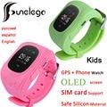 Q50 funelego kids tracker gps smart watch para niños usable oled lcd electrónica anti-perdió con la tarjeta sim de teléfono celular relojes