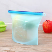 Silicone Food Storage Bags Reusable Fresh Bag Vacuum Sealer for Fruit Meat Milk High and low temperature resistance UYT Shop(China)