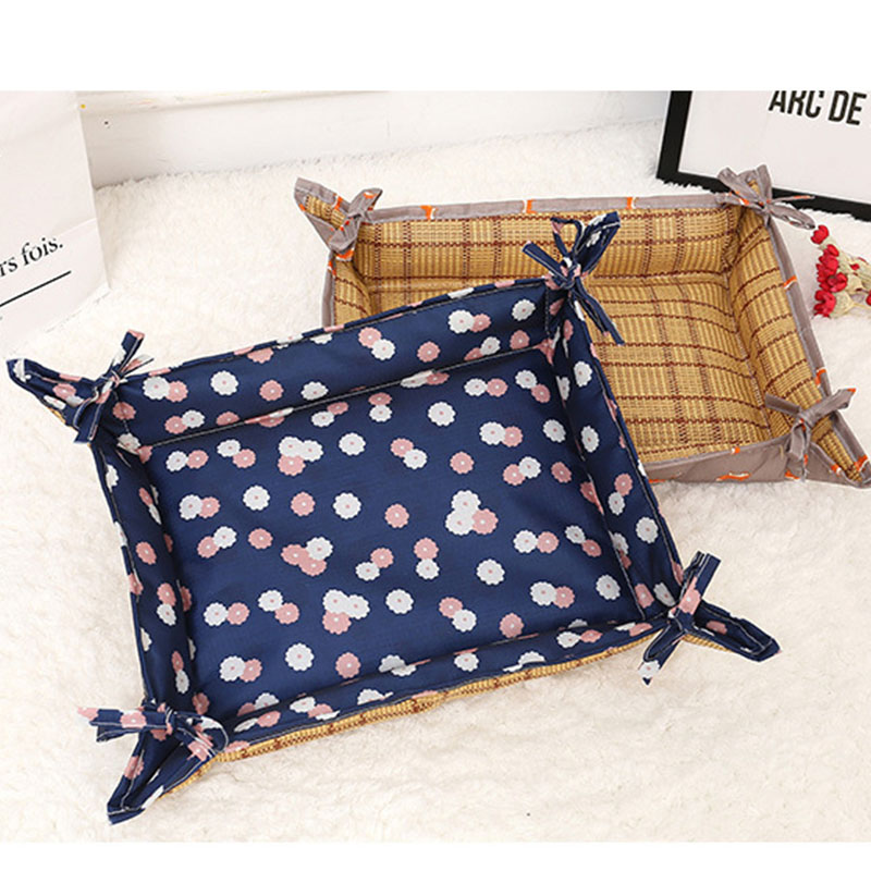 Two Sides Two Usages Summer Dog Bed House Cute Pet Cat Dog Cooler Cooling Ice Mat Cushion Pad Waterproof Dog Bed Kennel Nest