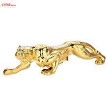 E-FOUR Car Ornaments Chinese Traditional Style Fortune Bless Leopard Decoration Styling God Strong High Class Ornament