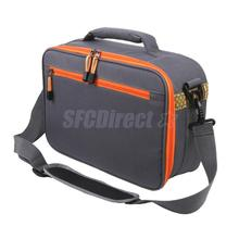 Fly Fishing Reel and Gear Bag 6 Compartment Tackle Bag Lures Baits Storage Case w/ Shoulder Strap
