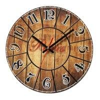 DCF77 Antiqued Retro Look Ancient Wall Clocks Funkuhr Wooden Clock 10'inch Quartz France Retro Ancient Old Clocks