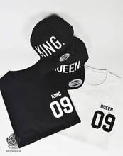 Sugarbaby King and Queen Sweatshirt Couples Jumper Long Sleeve Fashion Sweatshirt Crew Neck Casual Tops High quality Tops