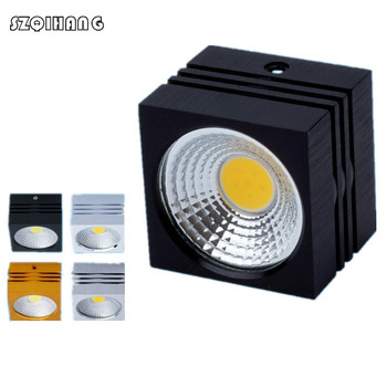 7W/10W/12W/15W Square Dimmable Led Panel Light Surface Mounted Led ceiling Downlight AC85-265V + LED Driver Free shipping led panel 300x600mm 24w thin led panel light super bright 3014 ac85 265v for home kitchen 5pcs lot dhl free shipping