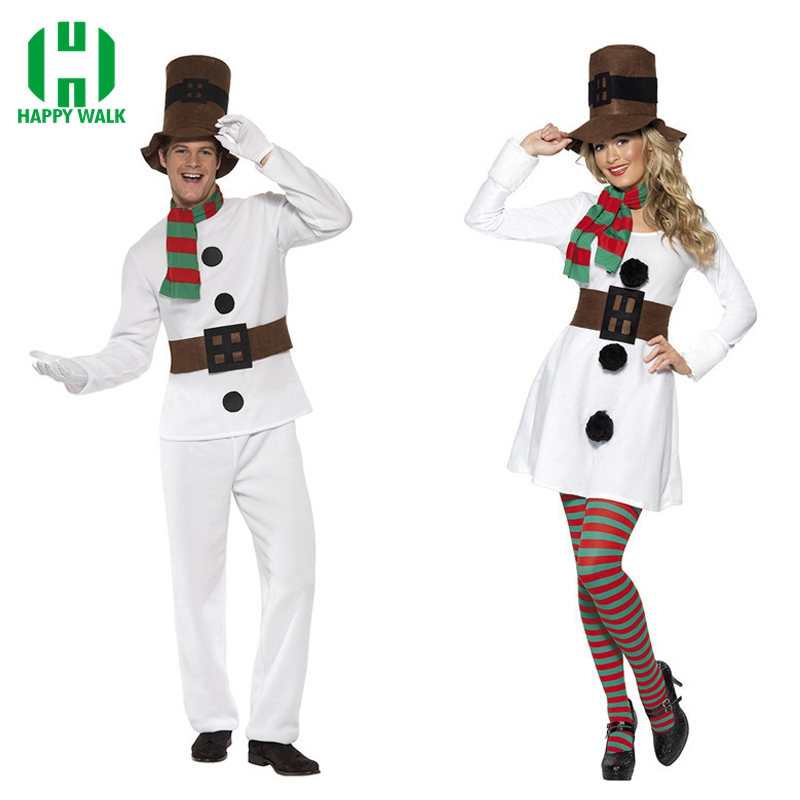 2019 Men Christmas Santa Claus Olaf Costume Women Halloween Olaf Cosplay Santa Claus Clothes Fancy Dress Costume Suit For Adult