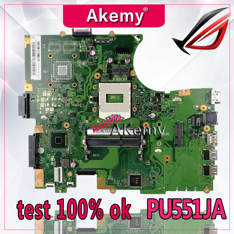 Akemy For ASUS PU551JA PU551 PU551J PRO551J laptop motherboard tested 100% work original mainboardAkemy For ASUS PU551JA PU551 PU551J PRO551J laptop motherboard tested 100% work original mainboard