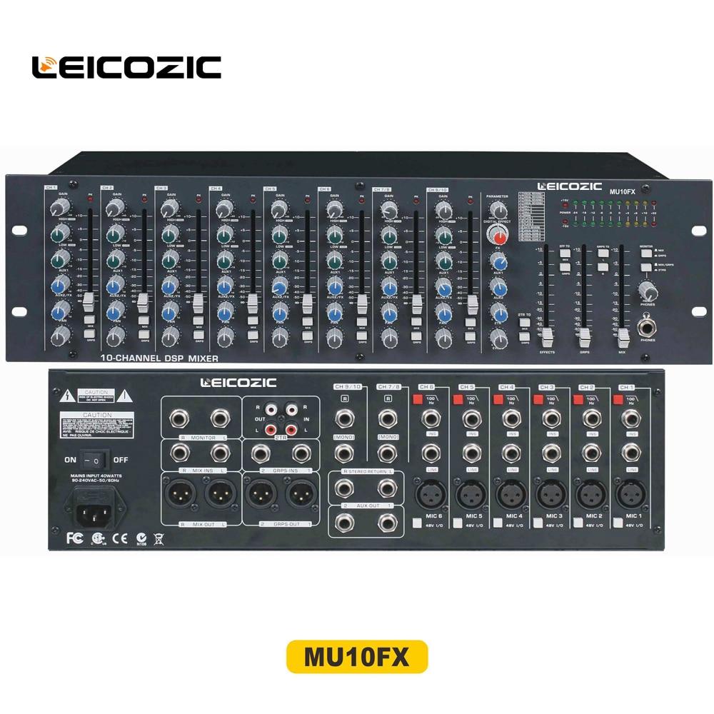 Logisch Leicozic Mu10fx Rack Mixing Schreibtisch Für Bühne Studio Aufnahme Konsole Audio Equipamento De Audio Profissional Mixer Dj Dj-equipment Professionelle Audiogeräte