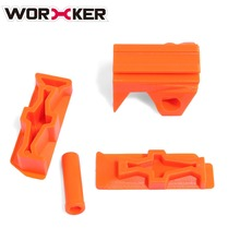 Worker Modified Toy Gun Accessories Top Side Rail Adapter Picatinny Base Set for Nerf Stryfe Accessories