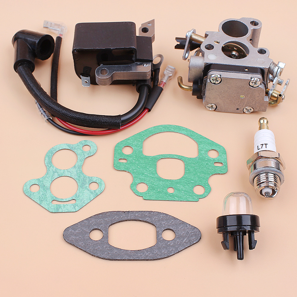 Tools : Carburetor Ignition Coil Module Magneto Kit Fit Husqvarna 240 236 235 Chainsaw Parts Zama C1T-W33 Carb OEM 545199901 586936202