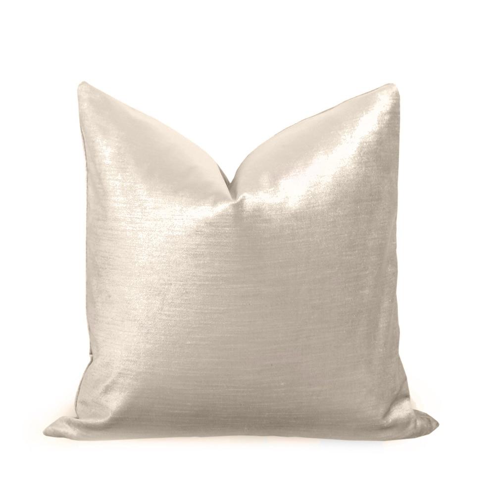 ESSIE HOME Luxury Nude Velvet Champagne Velvet Light Gold Velvet Cushion Cover Pillow Case Lumber Pillow Case Velvet