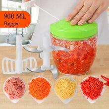 900ML wielofunkcyjna, szybka konstrukcja rozdrabniacz do warzyw, ręczna maszynka do mięsa, rozdrabniacz do czosnku