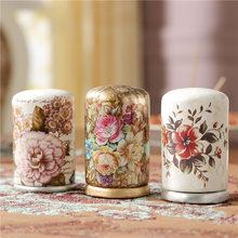 Europejska moda praktyczne wykałaczki kości słoniowej porcelany wykałaczka wykałaczka garnek wacik box wysokiej jakości dekoracji tanie tanio Dekoracyjne kwiaty i wieńce Ceramic