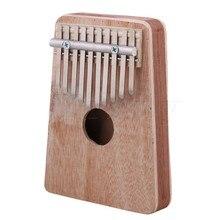 Yibuy Red Pine Wood and Aluminium 10-key Finger Thumb Piano Accompaniment