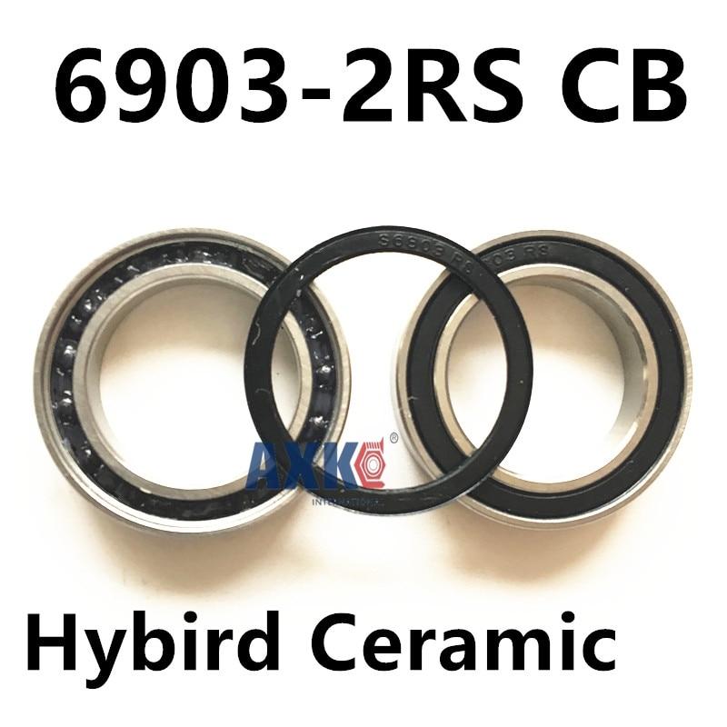 6903-2RS CB  6903 61903 hybrid ceramic deep groove ball bearing 17x30x7mm free shipping 6806 full si3n4 p5 abec5 ceramic deep groove ball bearing 30x42x7mm 61806 full complement