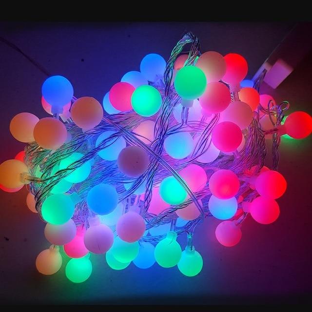 10 M 100 LEDs 110 V 220 V LED String Luzes De Fadas Bola luz com plug Cauda Luzes De Natal Festa de Casamento Férias Decotation luz