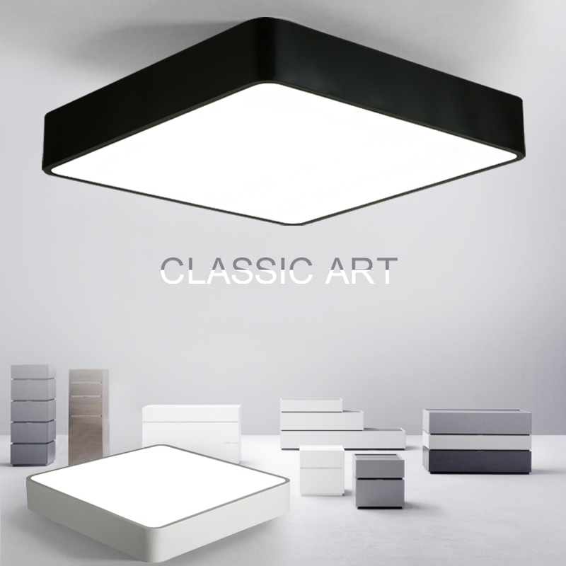 Back To Search Resultslights & Lighting Ceiling Lights & Fans Hot Sale Modern Remote Control Surface Mounted Ceiling Lamp Square Led Panel White/black For Bathroom Lighting Ac110-240v Luminarias Para