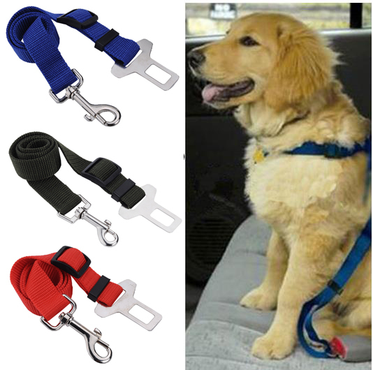 1pc Adjustable Lead Clip Dog Cat Pet Car Safety Seat Belt Vehicle Car Seat Belt Seatbelt Harness G01060