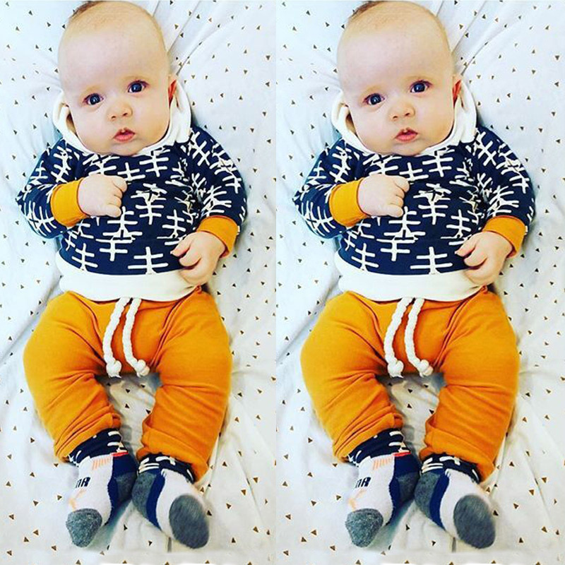 Christmas Toddler Baby Boys Girls Clothing Hoodies+Pants 2PCS Sports Pajamas Suit Kids Children Clothes Boys Outerwear