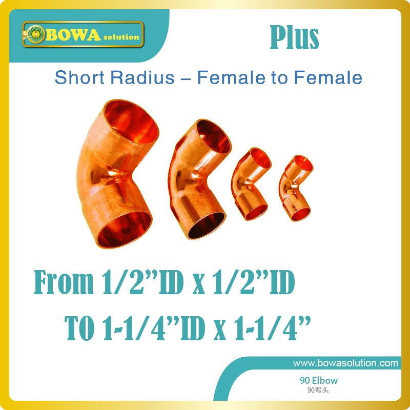 Thicken short copper radius from 1/2ID to 1-1/4ID is available and can be mixed buy, pls consult with us about deliver costs