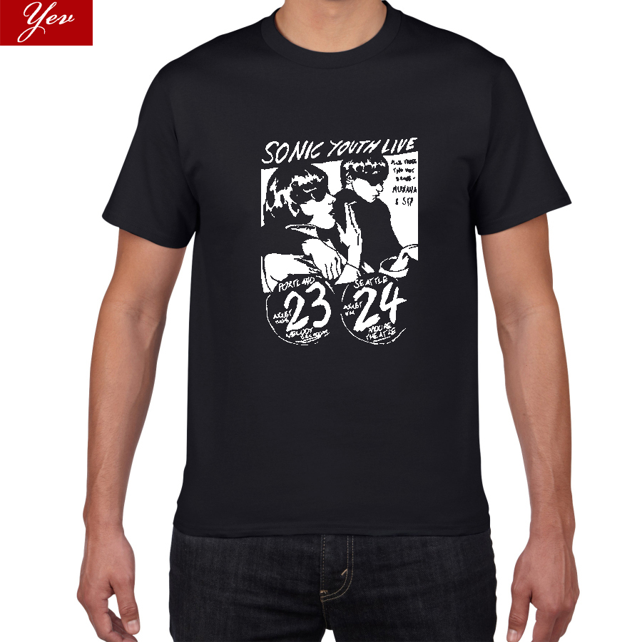 Sonic Youth Alternative Pop/Rock T Shirt Men/ Women  Post Punk  Noise Pop 100% Cotton T-shirt Men Casual Street Wear Tshirt Men