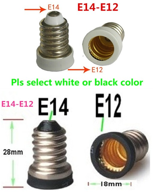 10pcs E14 to E12 Base Adapter Converter Lamp Holder E14 E12 Lamp ...