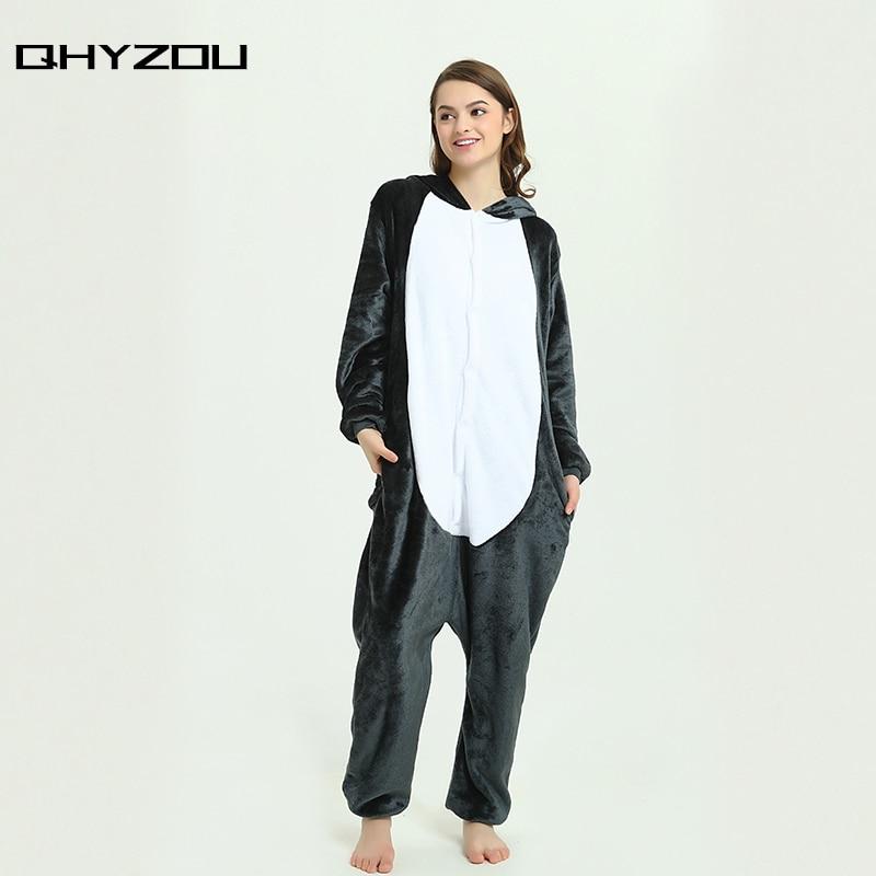 Animals Grey Wolf Pajamas Sets Holiday Party Family Onesie Pyjamas Sleepwear Onsie Kigurumi Unicorn Gray