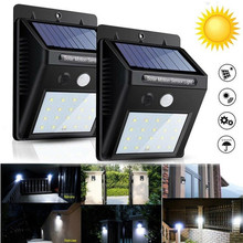 1-4pcs LED Solar Light Motion Sensor Outdoors Garden Decoration Fence Stair Pathway Yard Security Lamp Dropshipping