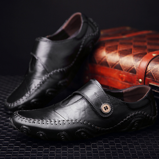 Zapatos hombre del barco, mocasines nueva moda de cuero de vaca cuero genuino, hombres zapatos casuales.