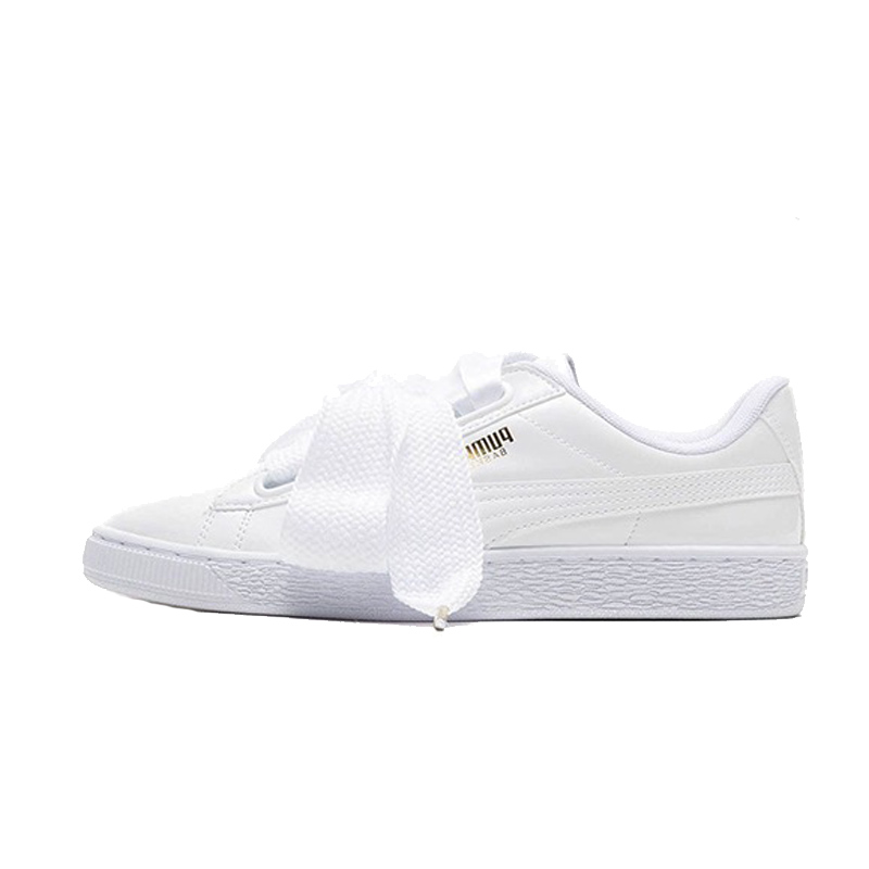 promo code 10508 d3924 US $49.99 |New Original FENTY PUMA Basket Heart Patent Women's Sneakers  Suede Satin Skateboarding Shoe White/Black Bow Ribbon Size36 40-in ...