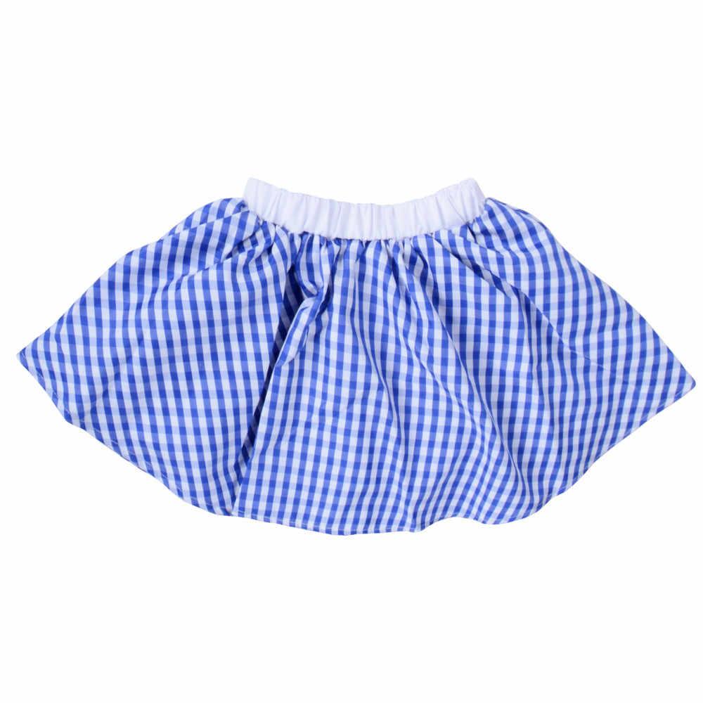 d5c5c0f4a ... Kids Gingham Skirt 1950s Costume Vintage Rock n Rock Plaid Circle Skirt  Little Sweet Baby Retro ...