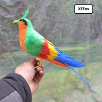 new simulaiton green&orange magpie model foam&feather lifelike magpie bird toy about 30cm xf0688